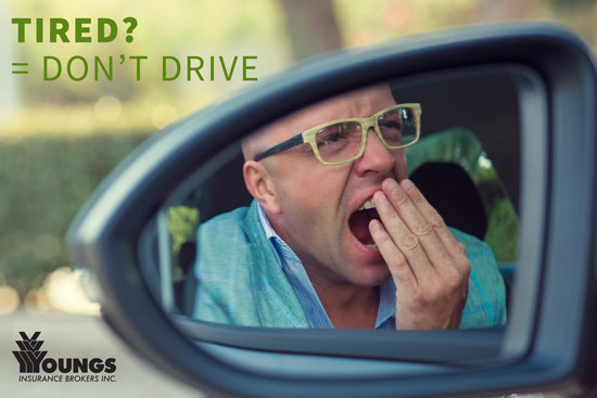 3 Reasons You Shouldn't Drive Tired, Youngs Insurance, Ontario