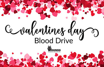 Youngs Insurance Valentine's Day Blood Drive