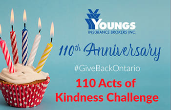 Youngs Insurance 110 Acts of Kindness Challenge