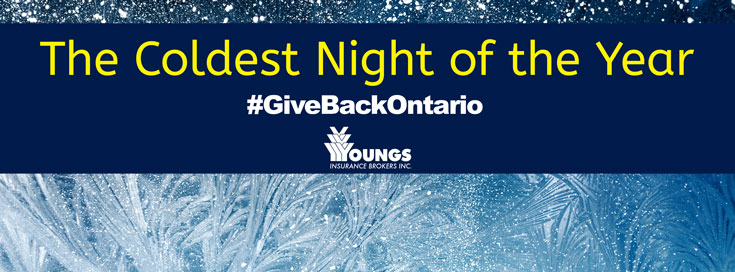 Giving Back, Coldest Night of the Year, Youngs Insurance, Ontario