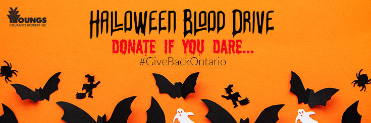 Halloween Blood Drive, Youngs Insurance Brokers, Ontario