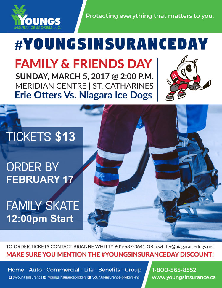 Youngs Insurance Day, Niagara Ice Dogs