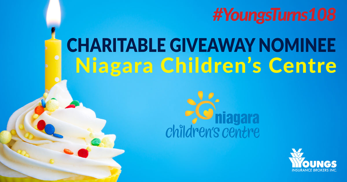 Youngs Insurance Brokers' 108th Birthday Charitable Nominee, Niagara Children's Centre