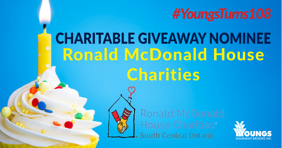 Youngs Insurance Brokers' 108th Birthday Charitable Nominee, Ronald McDonald Charities