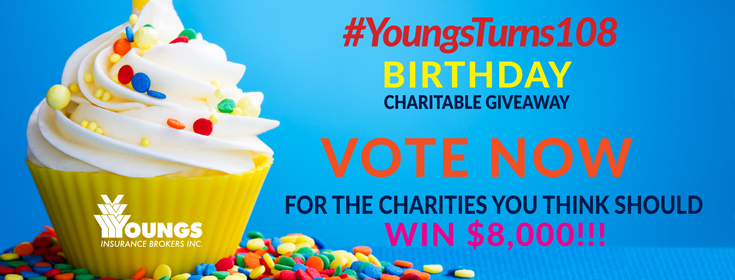 Youngs 108th Birthday Charitable Giveaway, VOTE NOW