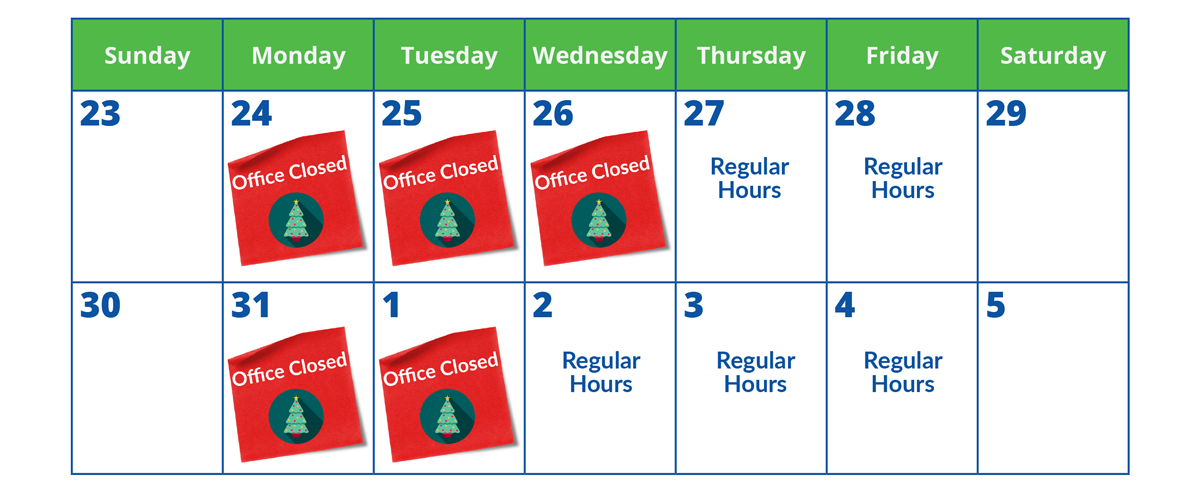 Youngs Insurance Holiday Schedule